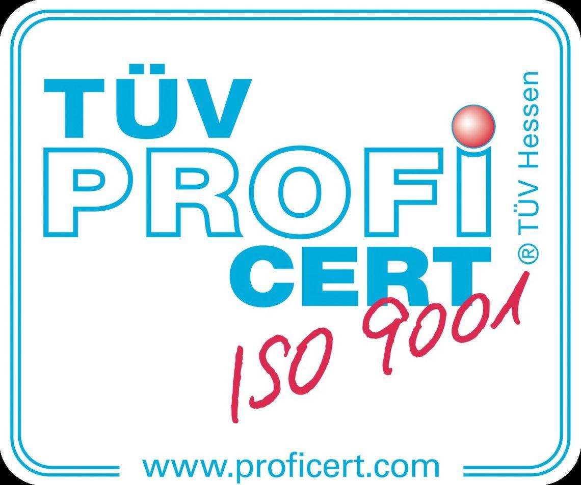 Zertifizierte Qualität - ISO 9001