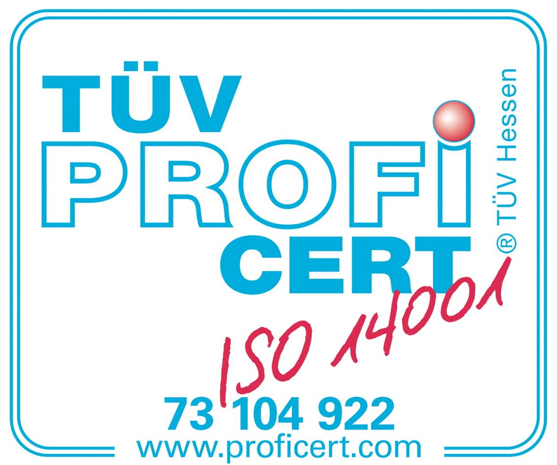 Zertifizierte Qualität - ISO 14001