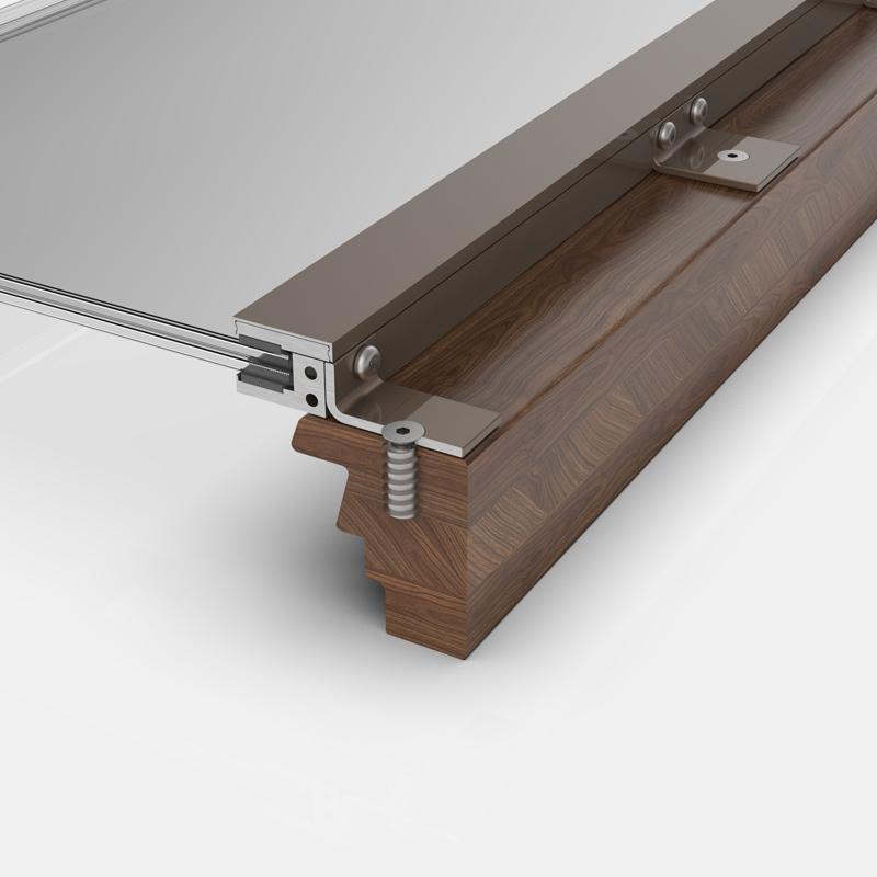 Absturzsicherung aus Glas auf Holzprofil