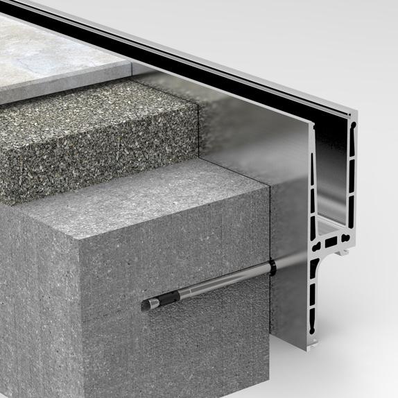 Geländer aus Glas für Balkon Profil