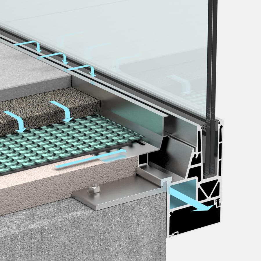 Balkonentwässerung Geländersystem