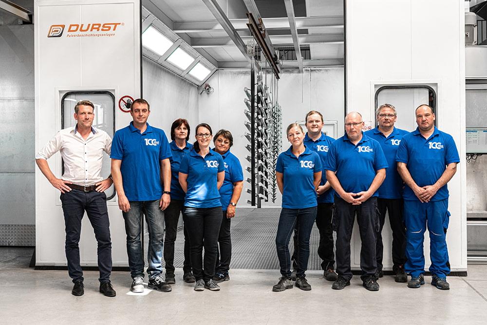 Team für Oberflächenbeschichtung bei Abel Metallsysteme