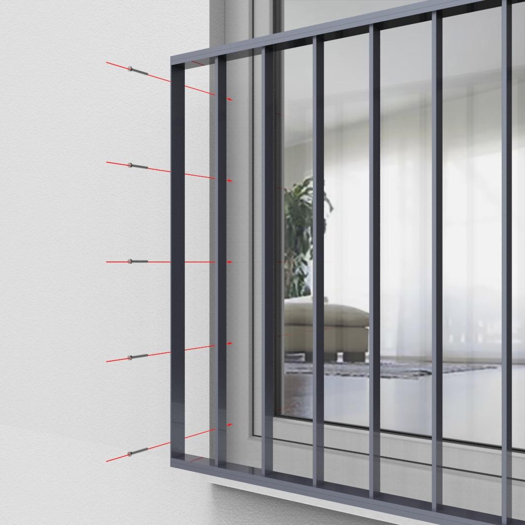 Fenstergitter aus Aluminium